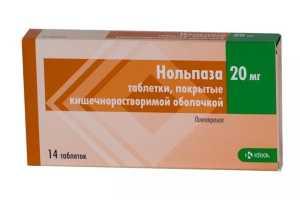 Лечение гастрита препаратом Нольпаза