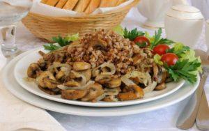 Овощи и грибы в качестве гарнира