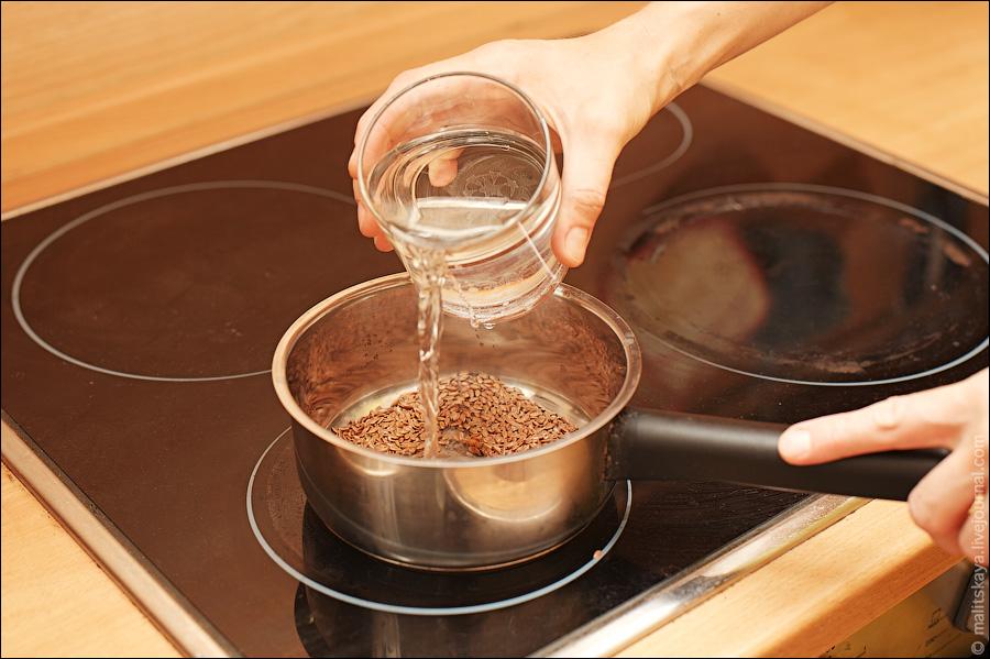 Семена заваривают горячей водой