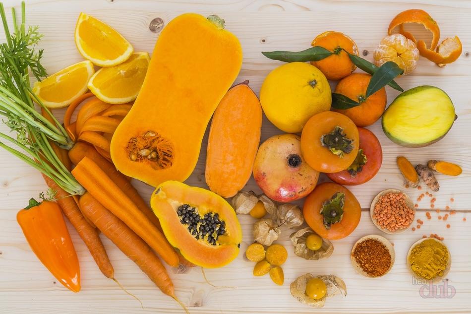 Овощи оранжевого цвета