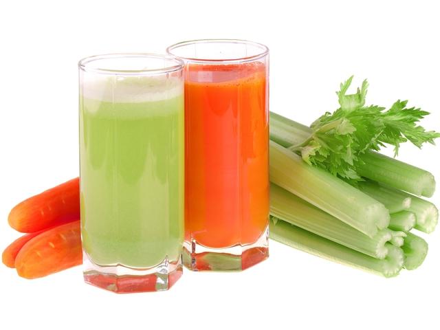 Сельдерейный и морковный сок