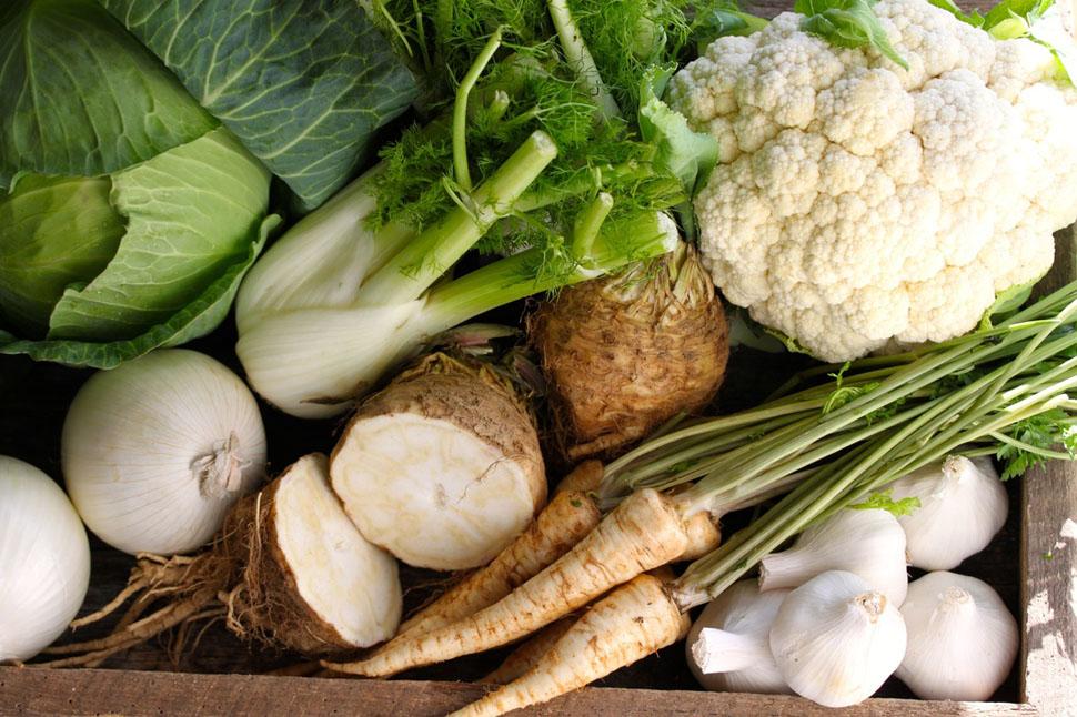 Белые овощи